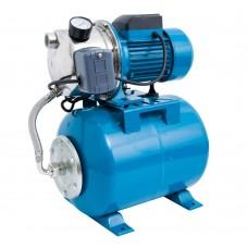Hidrofor AUTOJS80, 1000 W, 50 l/min, rezervor 24 l, 2.8 bar, inaltime 40 m, adancime 8 m, inox-otel Elefant Aquatic