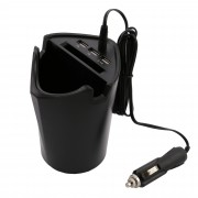 Incarcator smartphone bricheta auto SoundLogic, tip pahar, 3 USB-uri, 5V, Negru