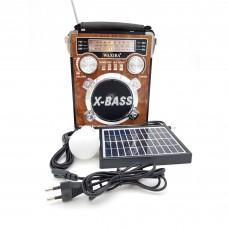 Radio portabil , usb stick Mp3, lanterna , alimentare la 220v si panou solar XB-2054