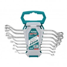 Set 8 chei inelare cu cot Total Industrial, 6 - 22 mm