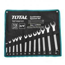 Set 12 chei combinate Total, 6-24 mm, uz industrial