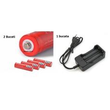 Set 2 Acumulatori tip 18650 , 7800 mAh UltraFire + incarcator