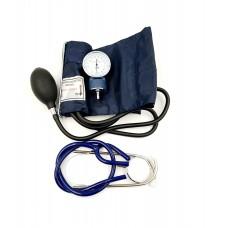 Aparat de masurat tensiunea  cu stetoscop si gentuta de depozitare