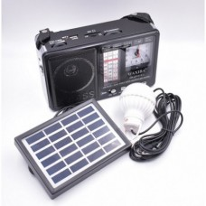 Radio portabil ceas usb stick Mp3 lanterna alimentare 220v si panou solar XB-401C-S-L