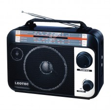 Radio Leotec Q1 cu 4 benzi radio AM/FM/SW1/SW2 , alimentare 220v si baterii